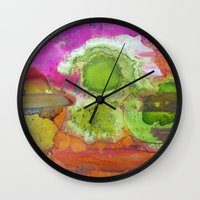 safari Wall Clocks featuring Safari by Heather Plewes Art