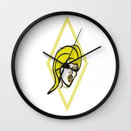 Yellow diamond pop art Wall Clock