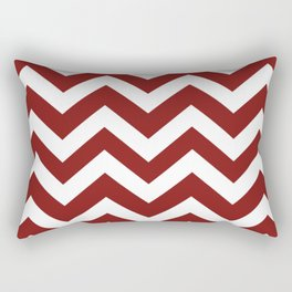 Falu red - red color - Zigzag Chevron Pattern Rectangular Pillow