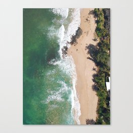 North Shore Beach Canvas Print