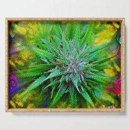 Marijuana Goddess Serving Tray