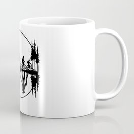 Upside down, Steve and the gang on bicycles, Stranger thing gift Coffee Mug