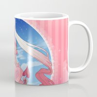 magical girl Mugs featuring Magical Girl by Rebeccacablah