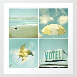 Coastal Collage Art Print