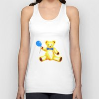 teddy bear Tank Tops featuring Teddy Bear by Artisimo