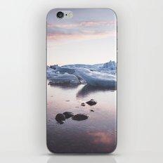 Sunset over Glacier Lagoon iPhone & iPod Skin