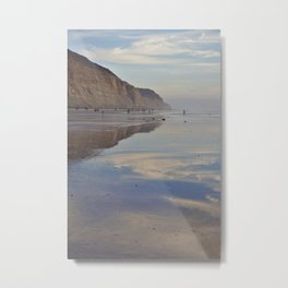 Beach Reflections - Photography Metal Print