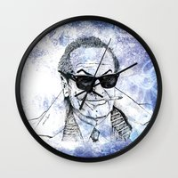 jack daniels Wall Clocks featuring Jack by Rabassa