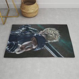 Cloud Strife FFVII Remake Rug