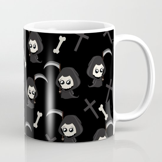 Cute Grim Reaper Pattern by momcilobjekovic