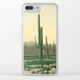 Cactus Landscape Clear iPhone Case