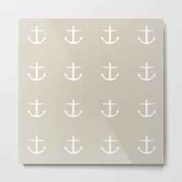 lt grey anchors Metal Print