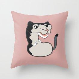 Neovison mink black cross #1 Throw Pillow