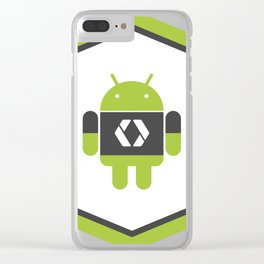 Android Developer Sticker Clear iPhone Case