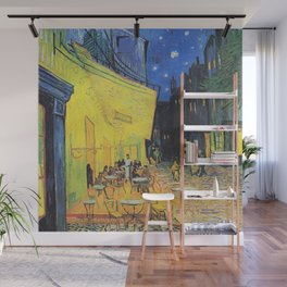 Café Terrace at Night by Vincent van Gogh Wall Mural