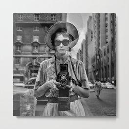 Selfie at tiffany's Metal Print