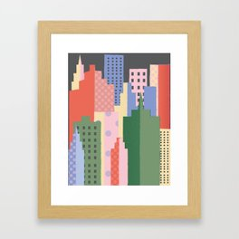 City Blocks Framed Art Print