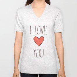 Love Card Unisex V-Neck