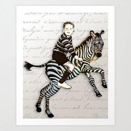 William Tames a Zebra Art Print