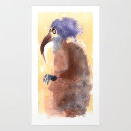 beak lady  Art Print