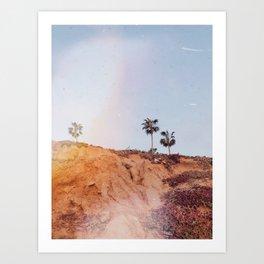 Palm Trees Landscape Art Print