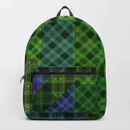 Blue green plaid Backpack