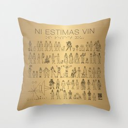 The Postmodern Pioneer Plaque Throw Pillow