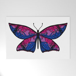 Fly With Pride: Bisexual Flag Butterfly Welcome Mat