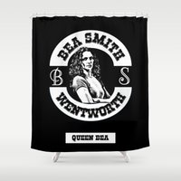 melissa smith Shower Curtains featuring Bea Smith by SwanniePhotoArt