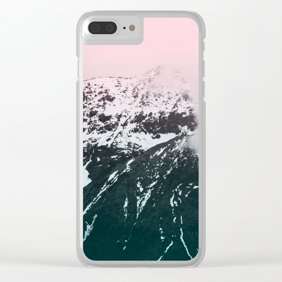 Mountains last forever Clear iPhone Case