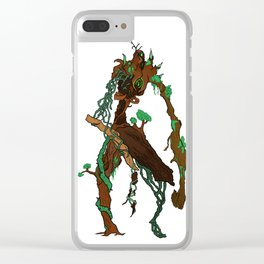 The tree man Clear iPhone Case