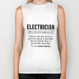 electrician someone wh-o does electrician Biker Tank