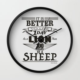 One Day as a Lion Wall Clock