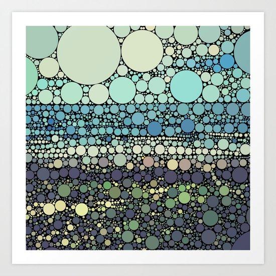 Beach Rounds Art Print