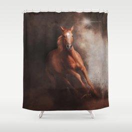 Quarter Horse (Digital Drawing) Shower Curtain
