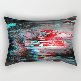 Glitch background. Computer screen error. Rectangular Pillow