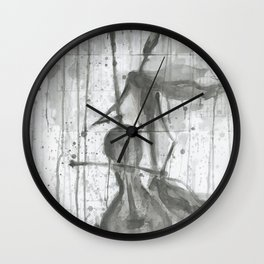 """CELLO. A SERIES OF WORKS """"MUSIC OF THE RAIN"""" Wall Clock"""