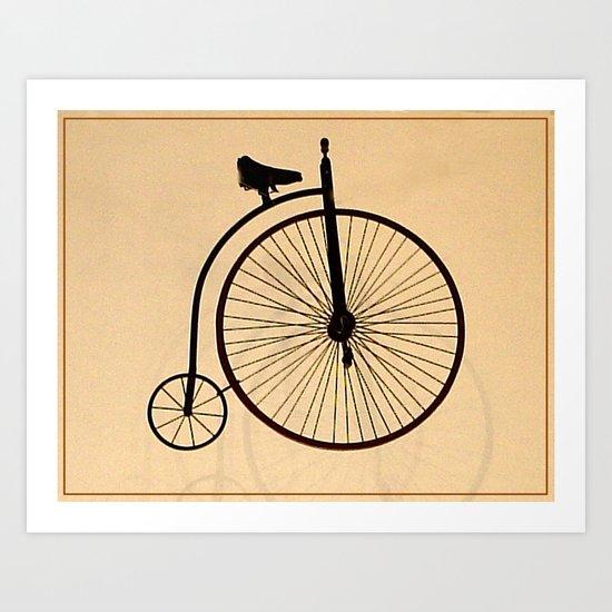 Speedy Bike Art Print