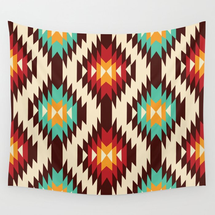 American Native Pattern No. 182 Wall Tapestry