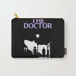 The Exorcist movie poster parody of Doctor Who 10th Carry-All Pouch