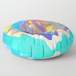 Psychedelic Clouds Floor Pillow