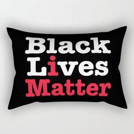 BLACK LIVES MATTER (inverse version) Rectangular Pillow