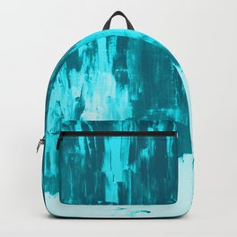Bright Blue Snow Nights with Icicles Backpack