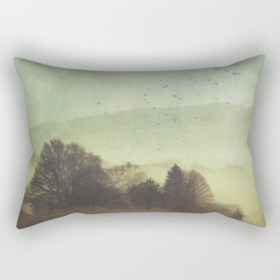 Hidden Houses Rectangular Pillow