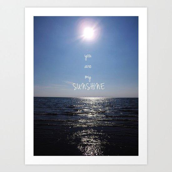 Sunshine Calling Art Print