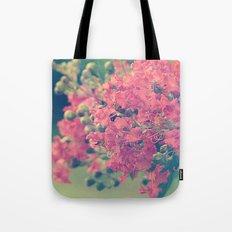 Pink Crape Myrtle Flowers Tote Bag