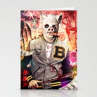 hotline miami Stationery Cards featuring Night Out: Hotline Miami by GiancarloVargas