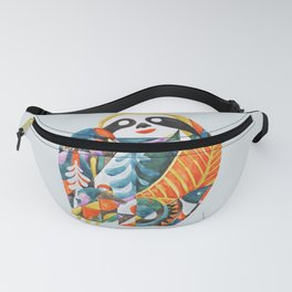 Nordic Sloth Watercolor Fanny Pack