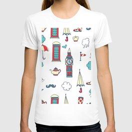 great britain pattern T-shirt