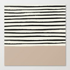 Latte & Stripes Canvas Print